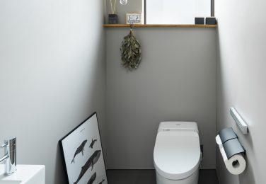 無駄の無い、シンプルデザインのトイレ