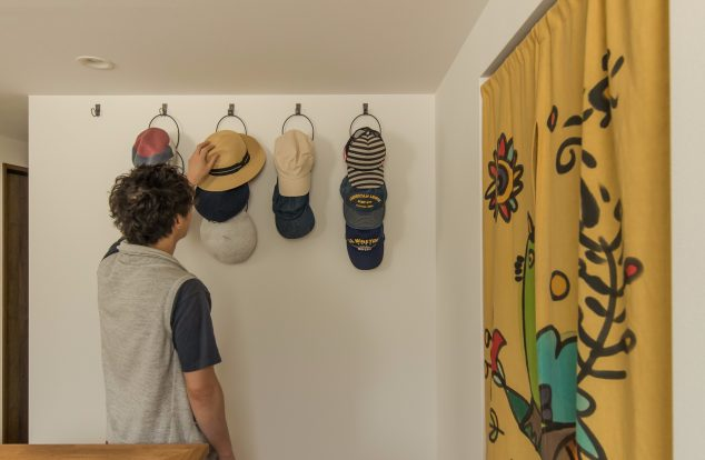 帽子をディスプレイ収納